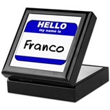 hello my name is franco Keepsake Box