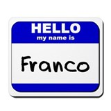 hello my name is franco  Mousepad