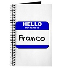hello my name is franco Journal