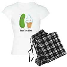 Personalized Pickle and Ice Cream Pajamas