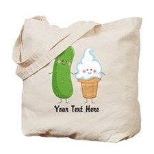 Personalized Pickle and Ice Cream Tote Bag