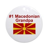 #1 Macedonian Grandpa Ornament (Round)