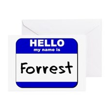 hello my name is forrest  Greeting Cards (Package
