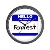 hello my name is forrest  Wall Clock