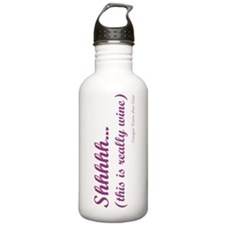 Shhh... this is really wine Stein Water Bottle