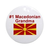 #1 Macedonian Grandma Ornament (Round)