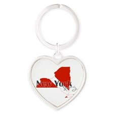 New York Diver Heart Keychain
