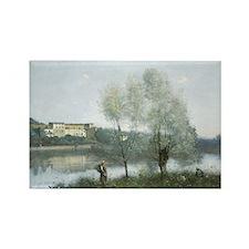 Jean-Baptiste-Camille Corot - Vil Rectangle Magnet