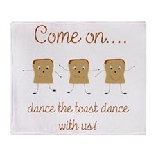 Dancing Toast Throw Blanket