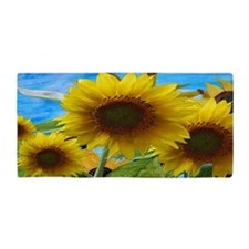 Giant Sunflower Garden Beach Towel