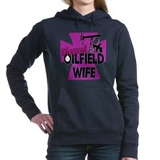 Pink Blessed Oilfield Wife With Cross Hooded Sweat
