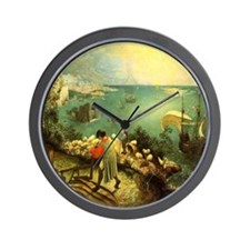Fall of Icarus Wall Clock