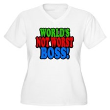 Worlds Not Worst Boss Plus Size T-Shirt