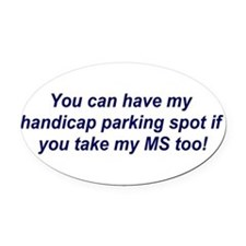 Cute Multiple sclerosis Oval Car Magnet