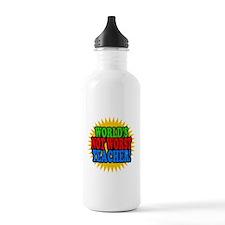 Worlds Not Worst Teacher Water Bottle