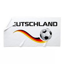 Soccer Deutschland 1 Beach Towel