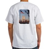 &quot;In Memory 9/11/01&quot;(message on front) grey t-shirt