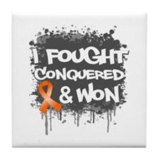 Kidney Cancer Fought Won Tile Coaster