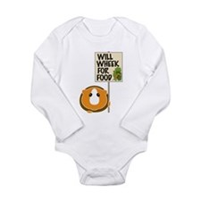 Will Wheek for Food Long Sleeve Infant Bodysuit