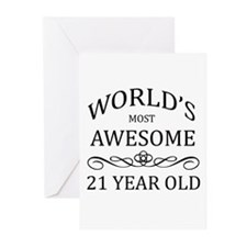 World's Most Awesome 21 Year Old Greeting Cards (P