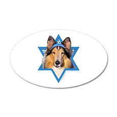 Hanukkah Star of David - Collie 20x12 Oval Wall De