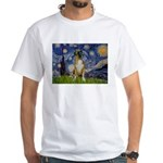 Starry / Boxer White T-Shirt