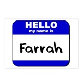 hello my name is farrah  Postcards (Package of 8)