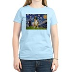 Starry / Boxer Women's Light T-Shirt