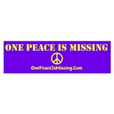 One Peace Is Missing Bumper Sticker