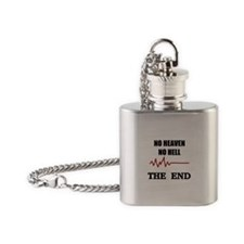NO HEAVEN NO HELL Flask Necklace