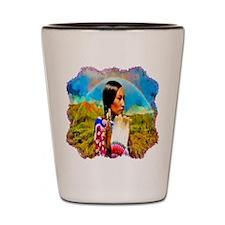 Crow Woman Shot Glass