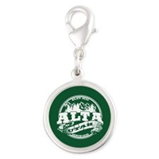 Alta Old Circle Green Silver Round Charm