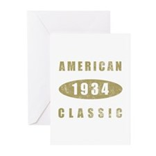 1934 American Classic (Gold) Greeting Cards (Pk of