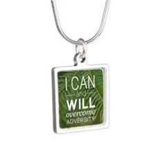 I can and I will Silver Square Necklace