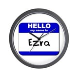 hello my name is ezra  Wall Clock