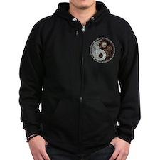 Steampunk Yin Yang Zipped Hoodie