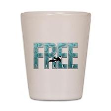 Free Tilly Sea Blue Shot Glass