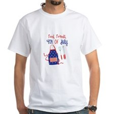 Food,Friends, 4th of july T-Shirt