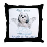 Shih Tzu Angel Throw Pillow