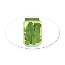 Pickle Jar Oval Car Magnet