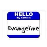 hello my name is evangeline  Postcards (Package of