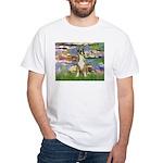 Lilies & Boxer White T-Shirt