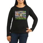 Lilies & Boxer Women's Long Sleeve Dark T-Shirt
