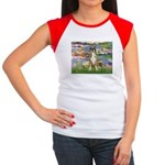 Lilies & Boxer Women's Cap Sleeve T-Shirt