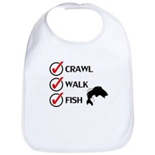 Crawl Walk Fish Bib
