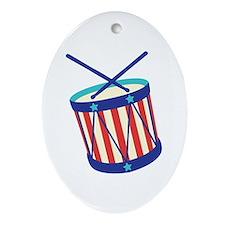 Stars Stripes Drum Ornament (Oval)