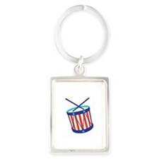 Stars Stripes Drum Keychains