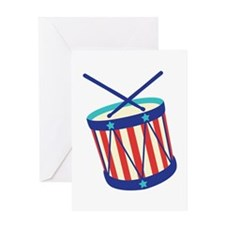 Stars Stripes Drum Greeting Cards