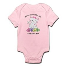 Personalized Kitty 1st Valentine's Day Infant Body