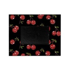 Very Cherry Cherries On Black Picture Frame